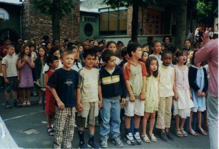 Cérémonie à l'école Wattignies