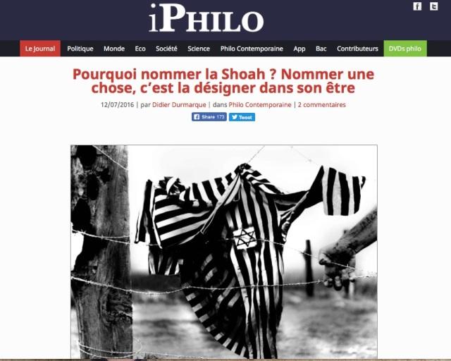 IPhilo_Pourquoi nommer la Shoah?