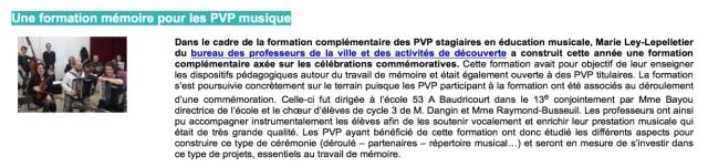 Formation mémoire PVP-EM
