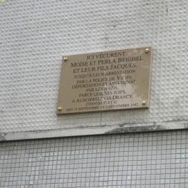Plaque M.P.&J. BEIGHEL