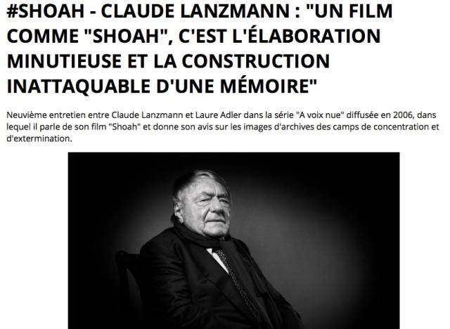 Lanzmann-Interview-Shoah