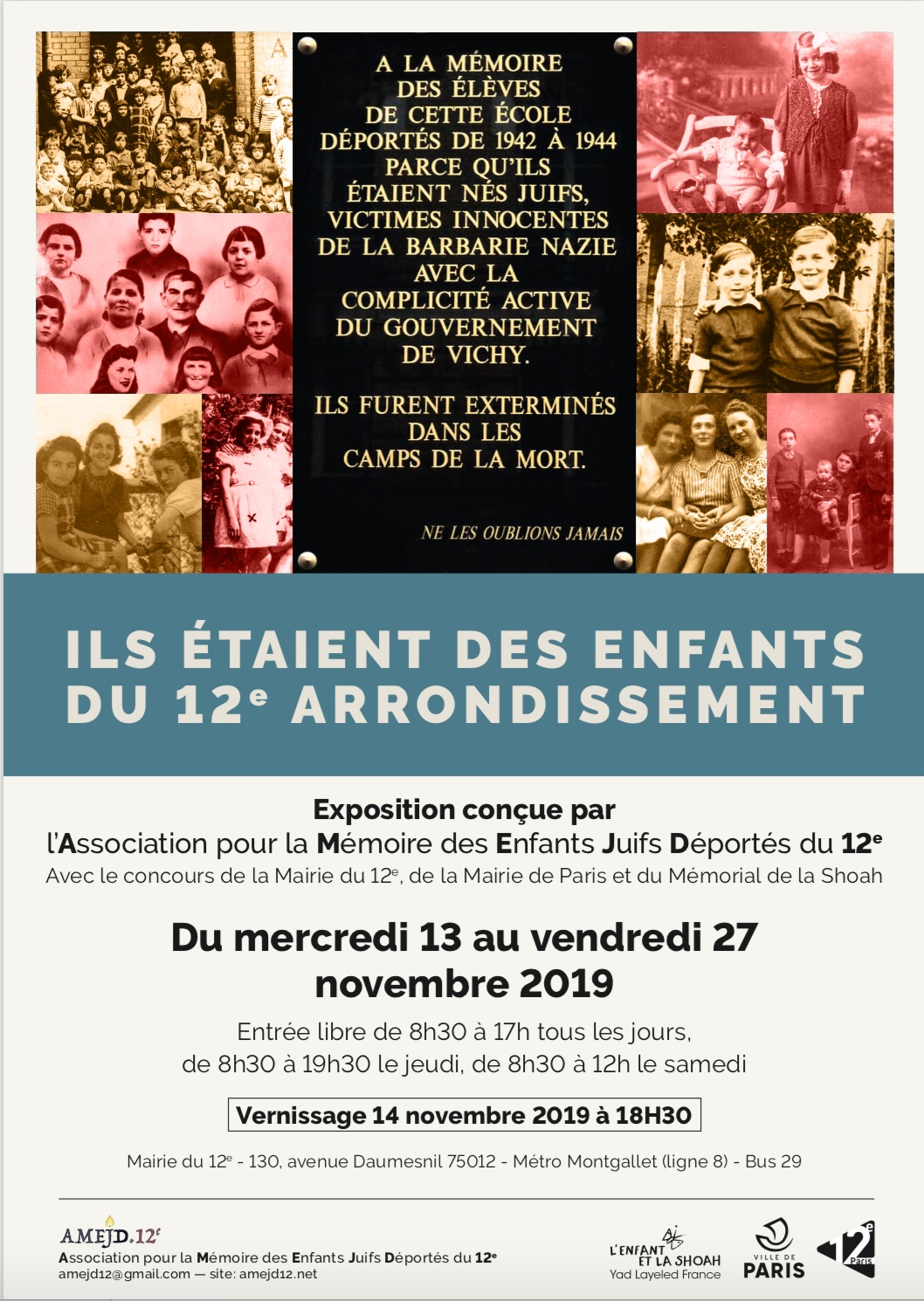 AMEJD 12-Affiche exposition 2019